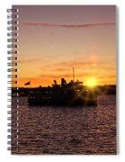 San Diego Sunset Spiral Notebook