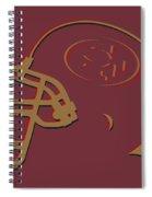 San Francisco 49ers Helmet1 Spiral Notebook