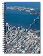San Francisco Bay Bridge Aerial Photograph Spiral Notebook