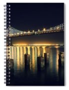 San Francisco Bay Bridge Illuminated Spiral Notebook