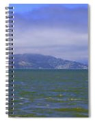 San Francisco Bay Golden Gate Bridge    Alcatraz Panorama Spiral Notebook
