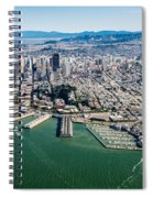 San Francisco Bay Piers Aloft Spiral Notebook