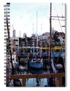San Francisco Behind The Masts Spiral Notebook