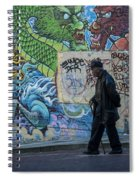 San Francisco Chinatown Street Art Spiral Notebook