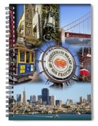 San Francisco Collage Spiral Notebook