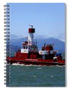 San Francisco Fire Department Fire Boat Spiral Notebook