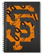 San Francisco Giants Baseball Vintage Logo License Plate Art Spiral Notebook