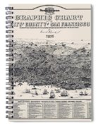 San Francisco Graphic Map 1875 Spiral Notebook