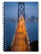 San Francisco - Oakland Bay Bridge Spiral Notebook