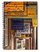 San Francisco Street Shops Spiral Notebook