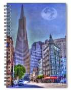 San Francisco Transamerica Pyramid And Columbus Tower View From North Beach Spiral Notebook