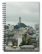 San Francisco View From Fishermans Wharf Spiral Notebook