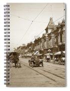94-095-0001 Early Knox Automobile First Street San Jose California Circa 1905 Spiral Notebook