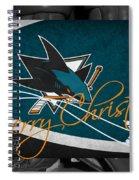 San Jose Sharks Christmas Spiral Notebook