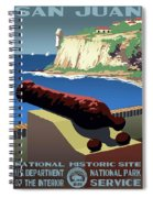San Juan National Historic Site Vintage Poster Spiral Notebook