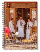 San Miguel - Waiting For Customers Spiral Notebook