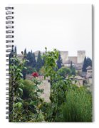 San Nicolas View Of The Alhambra On A Rainy Day - Granada - Spain - Spain Spiral Notebook