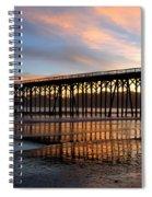 San Simeon Pier Spiral Notebook
