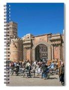Sanaa Old Town Busy Street In Yemen Spiral Notebook