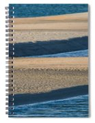 Sand And Water Textures Abstract Spiral Notebook