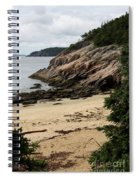 Sand Beach Acadia Park Spiral Notebook