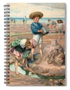 Sand Castles At The Beach Spiral Notebook
