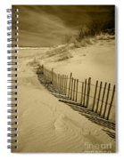 Sand Dunes And Fence Spiral Notebook