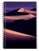 Sand Dunes At Sunrise Spiral Notebook