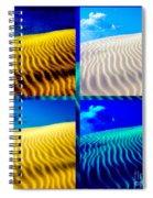 Sand Dunes Collage Spiral Notebook