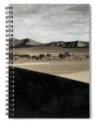 Sand Dunes In A Desert, Namib Desert Spiral Notebook