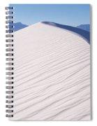 Sand Dunes In A Desert, White Sands Spiral Notebook