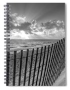 Sand Dunes In Black And White Spiral Notebook