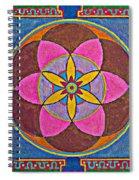 Sand Mandala Spiral Notebook