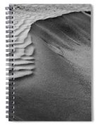 Sand Pattern Abstract - 2 - Black And White Spiral Notebook