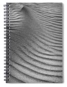 Sand Pattern Abstract - 3 - Black And White Spiral Notebook