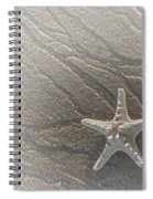 Sand Prints And Starfish II Spiral Notebook