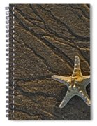 Sand Prints And Starfish  Spiral Notebook