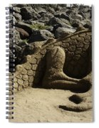 Sand Sculpture Dragon With Flaming Nostrils Spiral Notebook