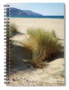 Sand Sea Mountains - Crete Spiral Notebook