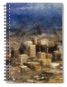 Sand Storm Approaching Phoenix Photo Art Spiral Notebook