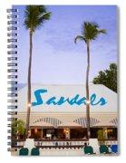 Sandals Grande Antigua Spiral Notebook