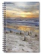 Sandcastle Sunrise Spiral Notebook