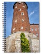 Sandomierska Tower Of Wawel Castle In Krakow Spiral Notebook
