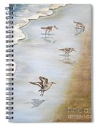 Sandpipers On The Beach Spiral Notebook