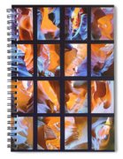 Sandstone Sunsongs Blues Photo Assemblage Spiral Notebook