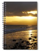 Sandy Bay At Dusk Spiral Notebook
