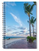 Sandy Beach And Beautiful Clouds  Spiral Notebook