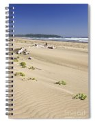 Sandy Beach On Pacific Ocean In Canada Spiral Notebook