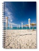 Sandy Beach Umbrellas Spiral Notebook