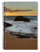 Sandy Beach Sunrise 7 - Oahu Hawaii Spiral Notebook